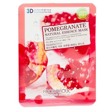 Купить Маска тканевая для лица FoodaHolic 3D с натуральным экстрактом граната