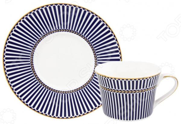Чайная пара Elan Gallery «Синие полоски» 730611