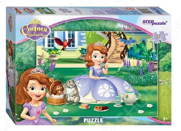 Пазл 35 элементов Step Puzzle «Принцесса София» пазл step puzzle принцесса софия disney 60 элементов