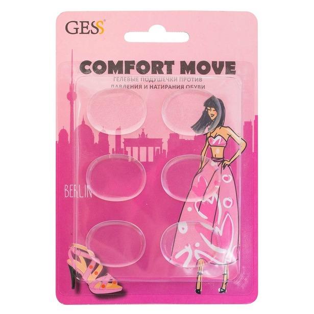 фото Подушечки гелевые против давления и натирания обуви Gess Comfort Move