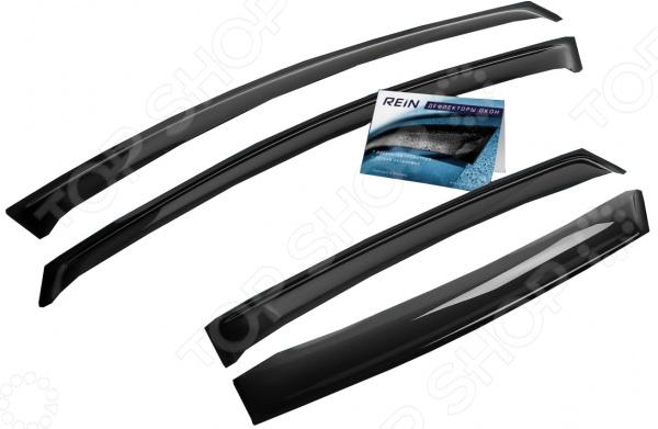 Дефлекторы окон накладные REIN Citroen C4 II, 2010, седан дефлекторы окон novline autofamily citroen c4 2013 седан