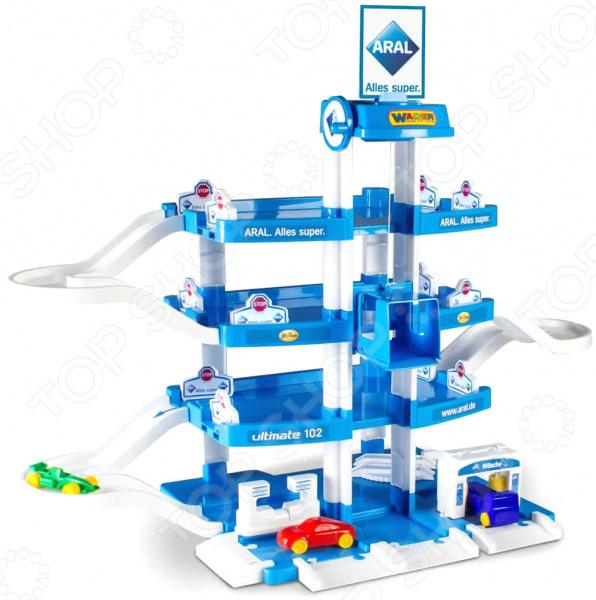 Набор игровой для мальчика Wader Aral-2 «Паркинг 4-уровневый с автомобилями»