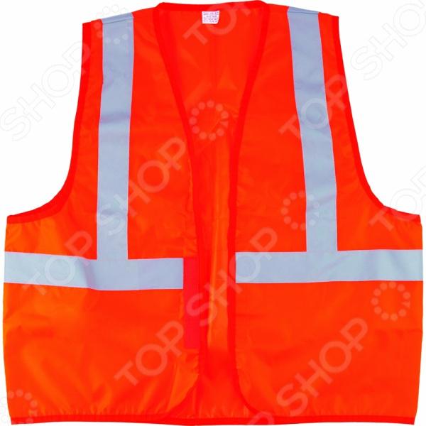 Жилет сигнальный СИБРТЕХ. Цвет: оранжевый сигнальный жилет сибртех оранжевый xxl 89514