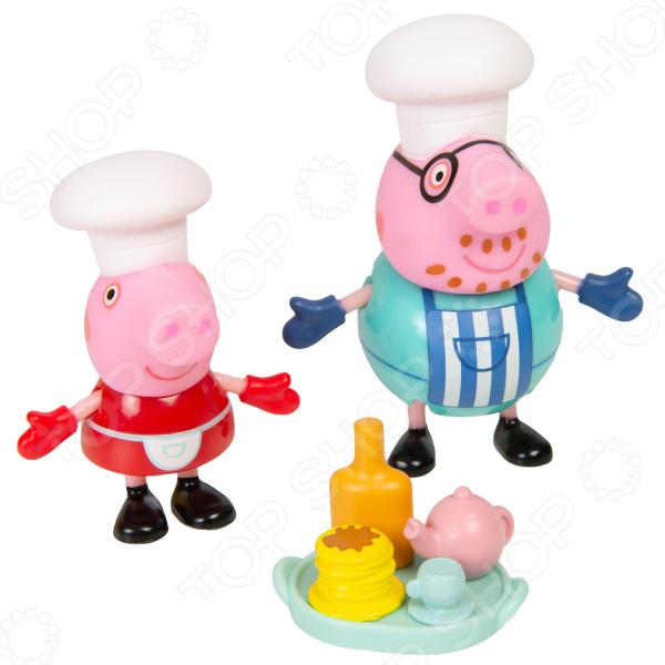Игровой набор фигурок Peppa Pig «Пеппа и Папа пекут блинчики»