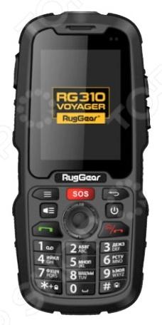 Мобильный телефон защищенный RugGear RG310 Voyager надежный смартфон для экстремальных условий. Оснащен мощным фонариком и кнопкой S.O.S. Телефон будет удобен для использования в путешествиях, походах в горы, во время катания на квадроциклах, аквабайках и прочем. Корпус изготовлен из ударопрочного материала, который убережёт внутренности телефона при падении. Имеет компактно размещенные кнопочки и сенсорный дисплей. Отлично ловит сигнал и батарейка держится долго. Несмотря на встроенную память, телефон поддерживает флеш-карту типа microSD до 32 гб.  Стандарт защиты IP68.  Непроницаемость для пыли и микрочастиц.  Голосовой набор, голосовое управление.  Поставляется с аккумулятором повышенной емкости 3600 мАч.