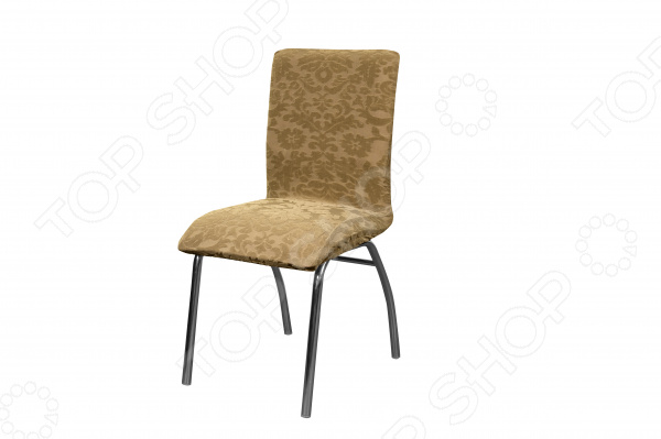Кардинальное изменение интерьера Натяжной чехол на стул Медежда Челтон оригинальный чехол, который даст вторую жизнь старой мебели, поможет ей засиять новыми цветами и кардинально преобразит интерьер. Чехол натягивается и садится на мебель за счет эластичных нитей, а также легкой ткани, которая придает визуальный объем. Универсальный чехол на стул изготовлен из стрейчевого жаккарда. Элегантный выпуклый рисунок прекрасно подходит к интерьеру как в классическом, так и в современном стиле. Сиденье: ширина от 40 см до 60 см, спинка: ширина от 40 до 60 см. Защита мебели Сохранение чистоты и гигиеничности это немаловажная часть работы, с которой чехол с легкость справляется. Он используется не только для трансформации интерьера, но и для защиты от пыли, пятен, а хозяев от необходимости регулярной чистки. А ведь оригинальную ткань от мебели не так то просто выстирать. Поэтому чехол будет не только красивым дополнением, но и необходимой мерой предосторожности.  Преимущества  Сделан из мягкой ткани, приятной на ощупь.  Хорошо принимает форму мебели.  Обладает повышенной износостойкостью.  Ткань не деформируется и не выцветает после стирки.  Материал не просвечивает. Одежда для вашей мебели Способов обновить старую мебель не так много. Чаще всего приходится ее выбрасывать, отвозить на дачу или мириться с потертостями и поблекшими цветами. Особенно обидно избавляться от мебели, когда она сделана добротно, но обивка подвела. Эту проблему решают съемные чехлы для мебели, быстро набирающие популярность в России. Незаменимы в домах с маленькими детьми и домашними животными, в гостиных, где устраиваются застолья и посиделки, в интерьерах офисов. В съемных квартирах они помогут сохранить чистоту и гигиеничность. Но все-таки главное предназначение чехлов это эстетическое обновление интерьера.