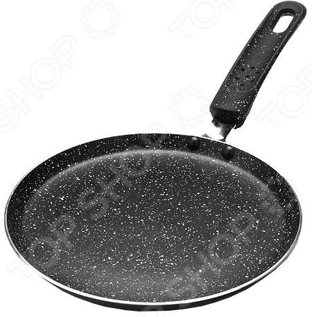 Сковорода блинная Mayer&Boch «Мраморная крошка». Цвет: черный блины и блинчики