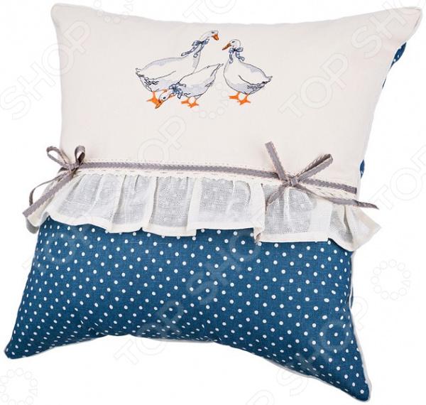 Подушка декоративная Santalino «Гуси» 850-820-63 подушка декоративная santalino райский сад 850 818 6