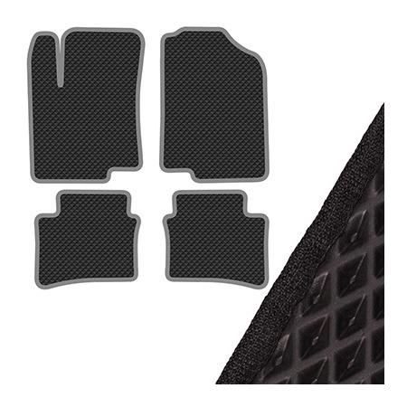 Купить Комплект из 4-х ковриков в салон автомобиля с левым рулем SKYWAY Kia Rio III (2011)