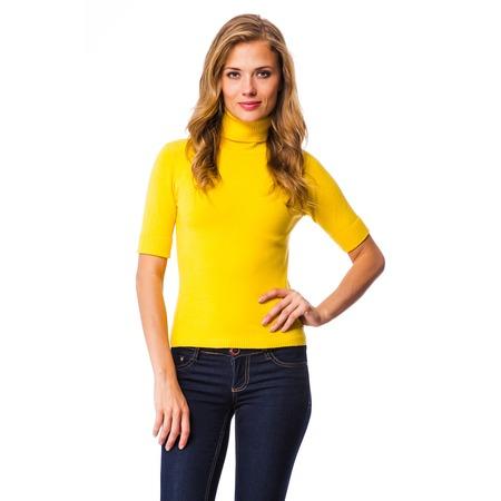 Купить Свитер Mondigo 9003. Цвет: желтый