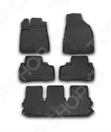 Комплект ковриков в салон автомобиля Novline Autofamily Toyota Highlander 2014