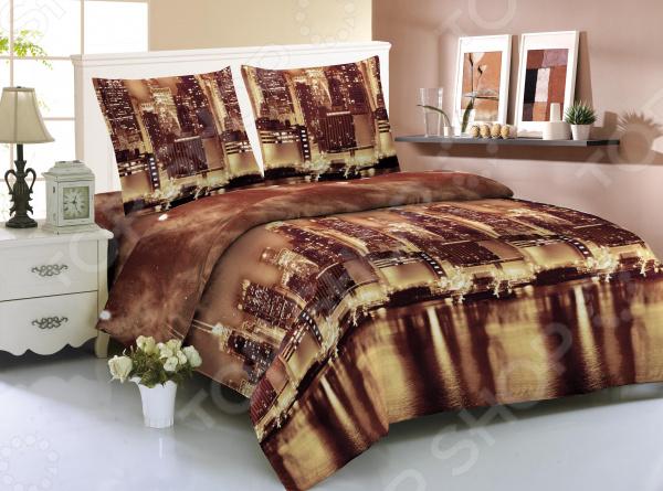 Комплект постельного белья Amore Mio New York. 1,5-спальный