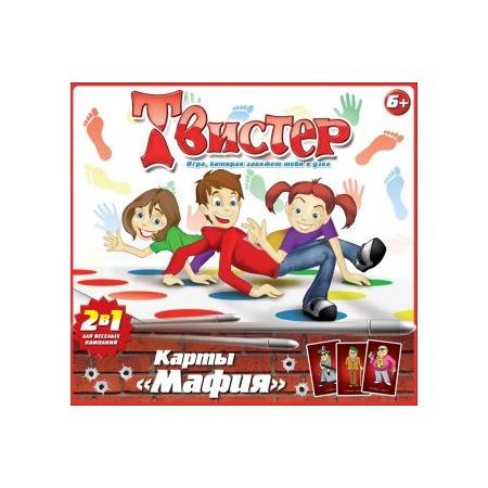 Напольная игра Татой «Твистер+карты Мафия»