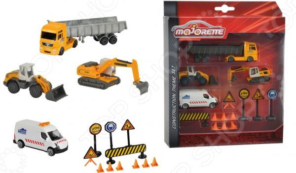 Набор машинок игрушечных Majorette с дорожными знаками