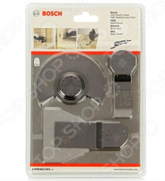 Набор насадок по дереву для многофункционального инструмента Bosch 2608662343 погружное пильное полотно bosch bim aiz 32 apb wood and metal 2 608 661 644