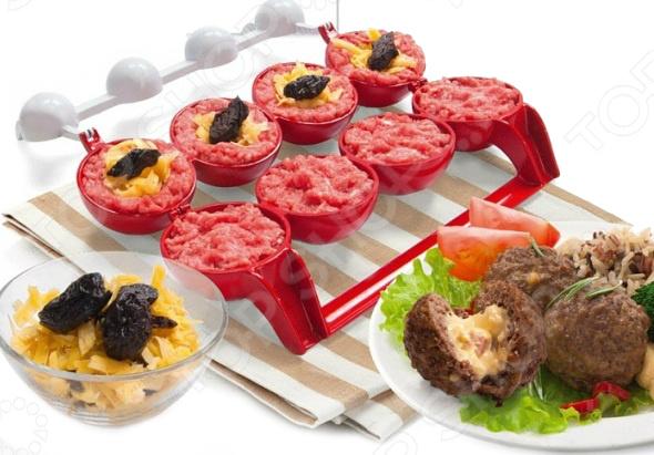 Формы для шариков с начинкой Вкусняшка идеально подходят для приготовления огромного количества блюд на каждый день и для особых случаев закусок на завтрак и праздничный стол, горячих блюд и десертов. Устройство очень просто и понятно в использовании. Не рекомендуется мыть в посудомоечной машине.  Диаметр шарика около 6 см.  Позволяет приготовить 4 шарика за один раз.