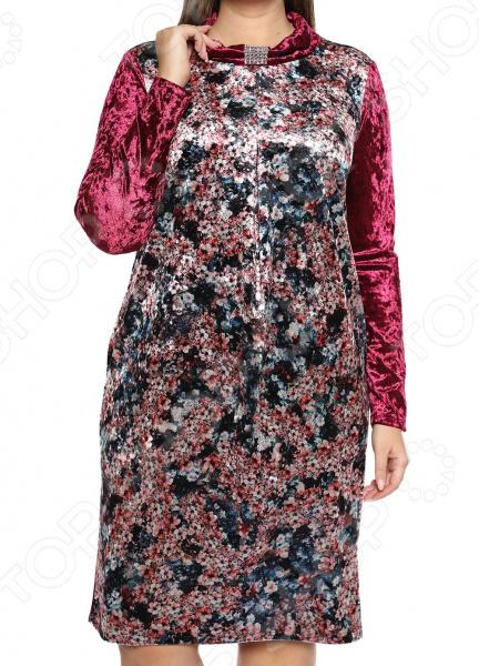 Платье Лауме-Лайн «Бархатный букет». Цвет: бордовый платье лауме лайн царица цвет бордовый