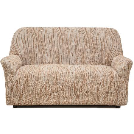 Купить Натяжной чехол на двухместный диван Еврочехол «Виста. Элегант Крем»