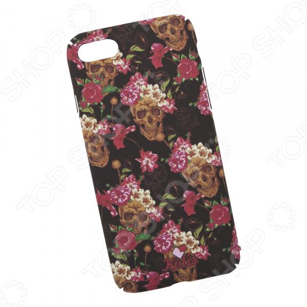 лучшая цена Чехол для iPhone 7/8 KUtiS Skull BK-5 «Черепа и цветы»