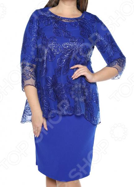 Платье Blagof «Царские узоры». Цвет: васильковый