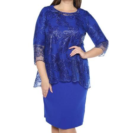 Купить Платье Blagof «Царские узоры». Цвет: васильковый