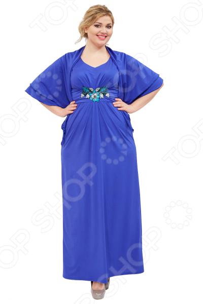 Платье Матекс «Прекрасная леди». Цвет: васильковый  туника матекс дыхание нежности цвет васильковый