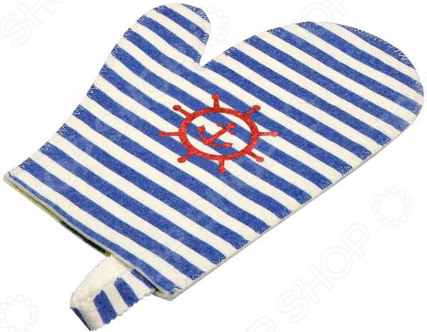 Рукавица для бани и сауны Банные штучки «Морская» рукавица для сауны банные штучки рукавица бабочки банные штучки красный войлок