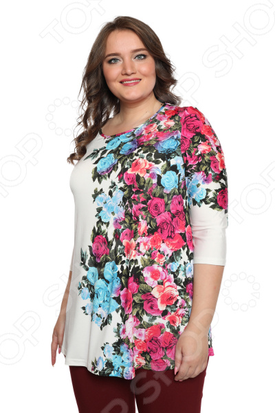 Блуза Лауме-Лайн «Шикарный букет». Цвет: розовый блуза