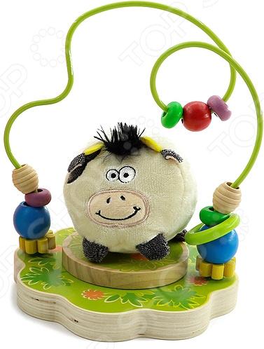 Игрушка-лабиринт Мир Деревянных Игрушек «Буренка» мир деревянных игрушек лабиринт буренка