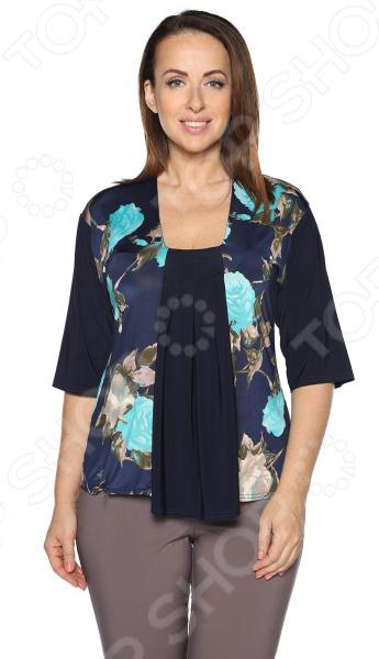 Блуза ТРЕНД «Безупречная». Цвет: синий, бирюзовый блуза тренд безупречная цвет синий бирюзовый