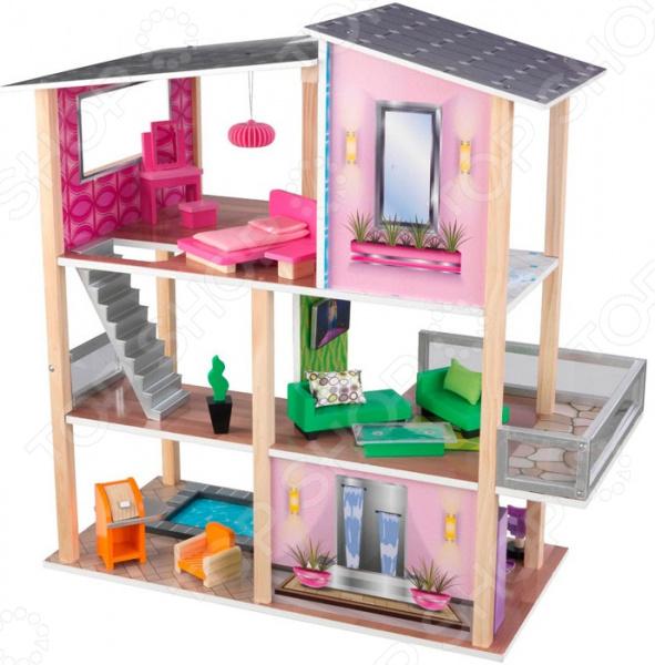 Кукольный дом с аксессуарами KidKraft «Стильный коттедж»