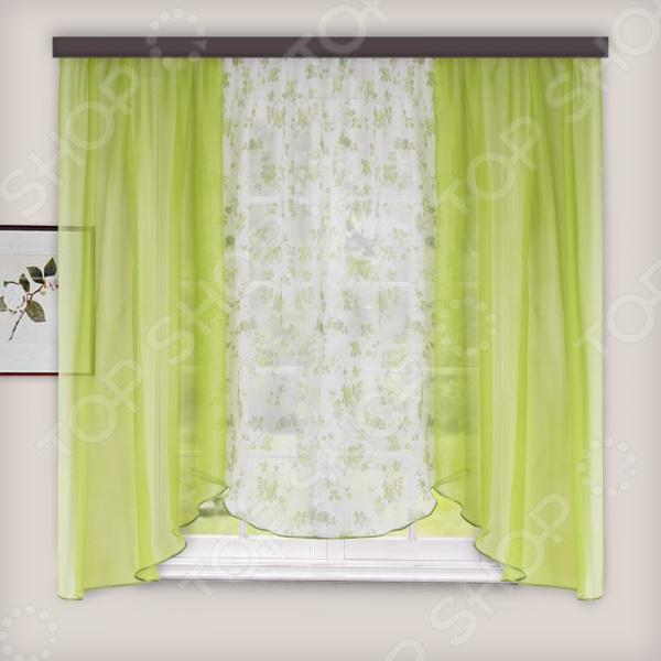 Комплект легких штор WITERRA «Николь». Цвет: зеленый. В ассортименте