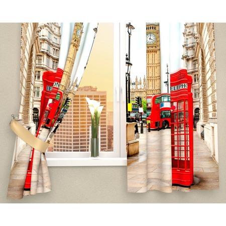 Купить Фотошторы Сирень «Лондонские будки»