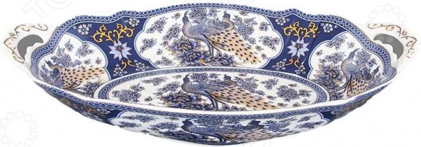 «Павлин» Блюдо для горячего овальное Elan Gallery «Павлин синий»