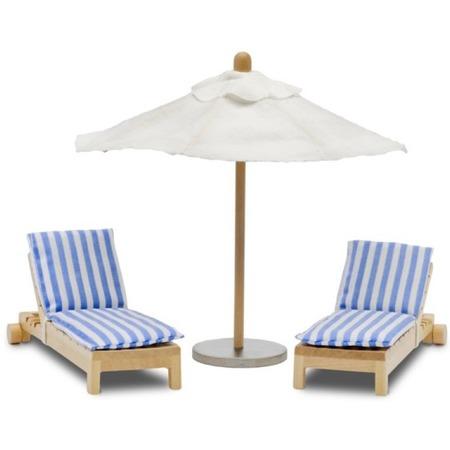 Купить Набор мебели для куклы Lundby «Шезлонги с зонтиком»