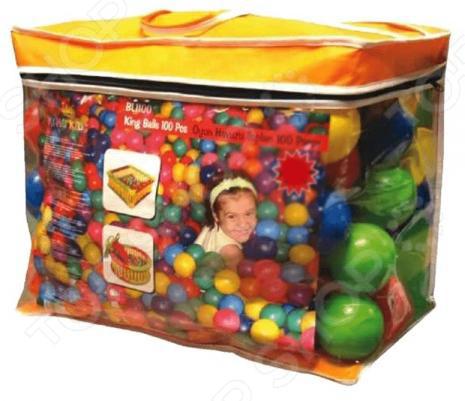 Шары для сухого бассейна King Kids в сумке сухие бассейны sportswill шарики для сухого бассейна 100 шт