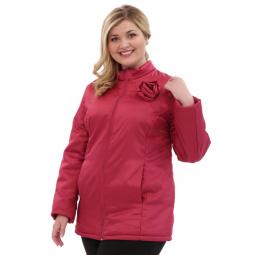 Куртка Гранд Гром «Тонкий вкус с воротником». Цвет: брусничный