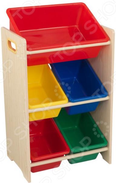 Система для хранения игрушек KidKraft с 5 контейнерами 15472_KE ящик для хранения kidkraft austin toy box vanilla ваниль 14958 ke