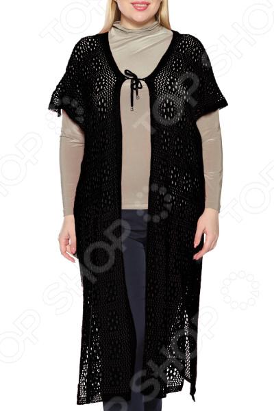 Кардиган DAFFY world «Женское счастье». Цвет: черный miu miu черный шерстяной кардиган