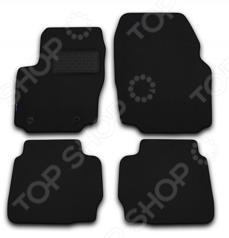 Комплект ковриков в салон автомобиля Novline-Autofamily Opel Vectra C 2002-2008 седан. Цвет: черный