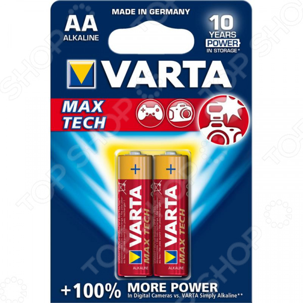Элемент питания VARTA Max tech AA 2 шт. батарейка varta max tech aa блистер 4шт