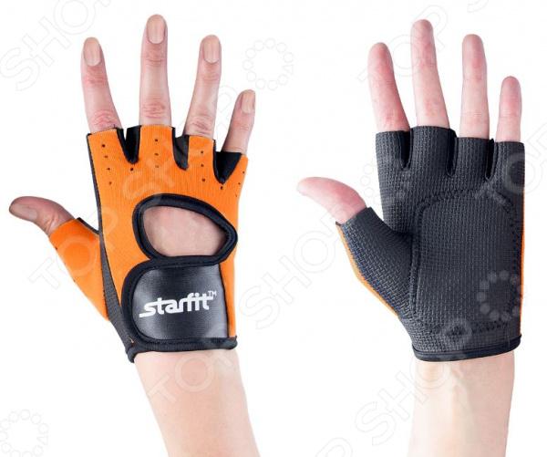 Перчатки для фитнеса Star Fit SU-107. Цвет: оранжевый, черный Star Fit - артикул: 1563978