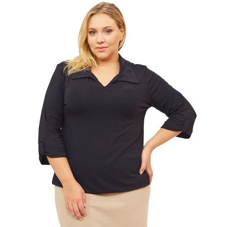 Купить Блуза Матекс «Евдокия». Цвет: черный