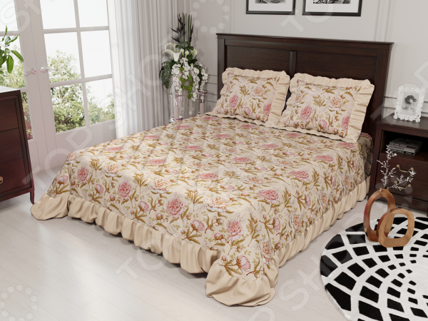 Комплект для мебели «Райский сад»: покрывало и накидки на подушки. Количество предметов: 3
