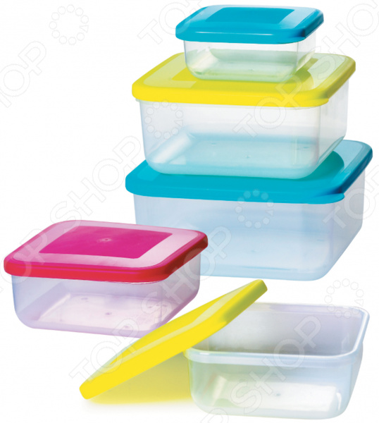 Набор контейнеров для продуктов Bohmann BH-56 кейс для хранения pacchetto medio 56 х 33 х 17 см
