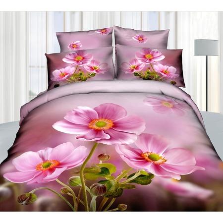 Купить Комплект постельного белья Mango «Цветы» 605. Семейный