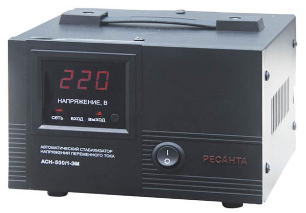 Стабилизатор напряжения Ресанта АСН 500/1-ЭМ
