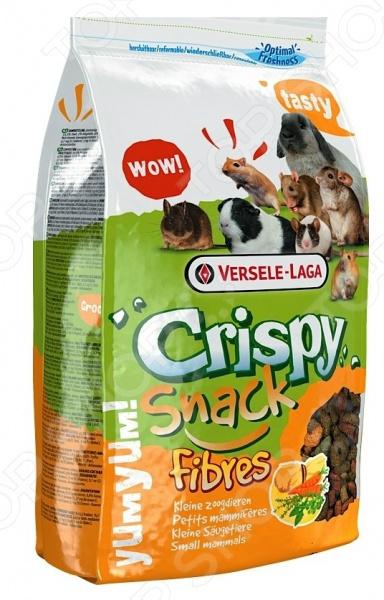 Корм для грызунов Versele-Laga Crispy Snack Fibres versele laga корм для грызунов versele laga crispi cavia для морских свинок 0 4 кг