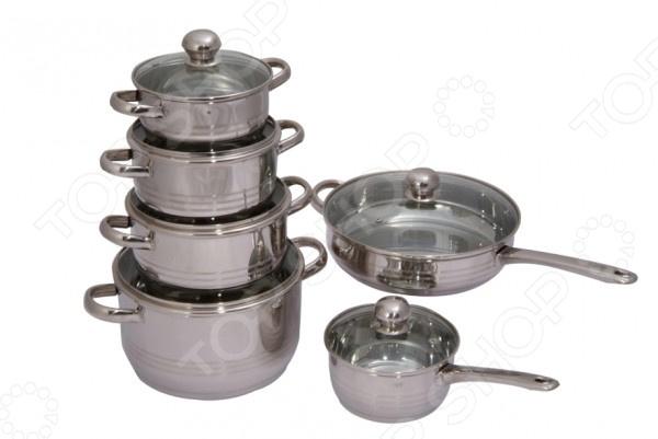 Набор посуды для готовки Regent Luna Vitro кастрюля pasta vitro с крышкой 1 8 л