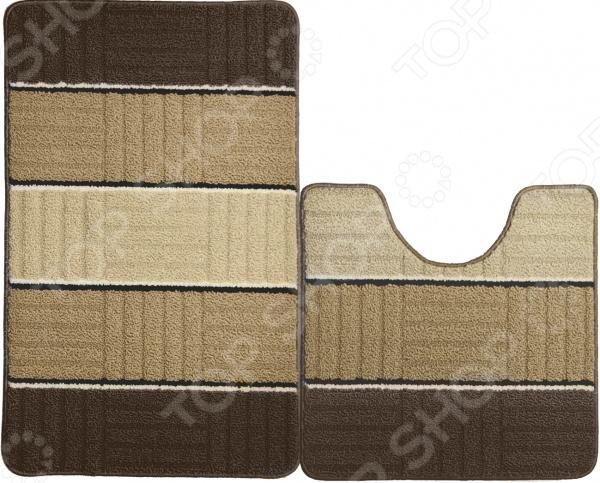 Набор ковриков для ванной комнаты Kamalak textil УКВ-1018